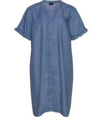 jcadence, 1/2, dress jurk knielengte blauw zizzi