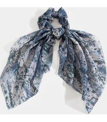 kasey printed chiffon pony scarf - gray