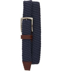 men's johnston & murphy stretch knit belt, size 44 - navy