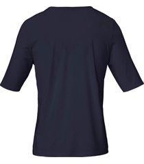 shirt met ronde hals van efixelle blauw
