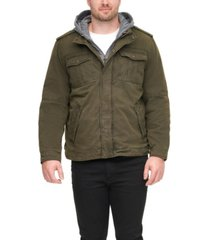 levi's men's big & tall sherpa lined two pocket hooded trucker jacket