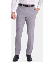 kenneth cole reaction men's slim-fit performance stretch mini-plaid dress pants