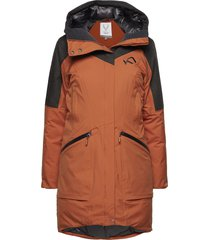 ygre down parka parkas rock orange kari traa