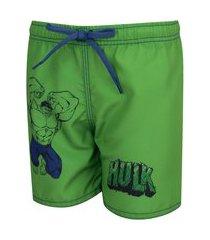 bermuda d'água marvel hulk - infantil