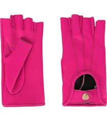 manokhi mano leather gloves - pink
