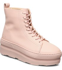 767g pale dogwood leather shoes boots ankle boots ankle boot - flat rosa gram