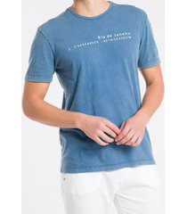camiseta mc regular silk meia marm gc - azul médio - pp
