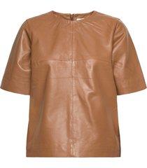 jayleeiw top blouses short-sleeved bruin inwear