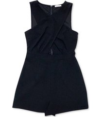 bar iii cross-front romper, created for macy's