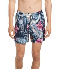 men's open edit classic swim trunks, size medium - blue