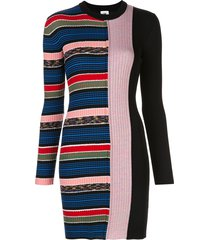 m missoni stripe print jumper dress - black