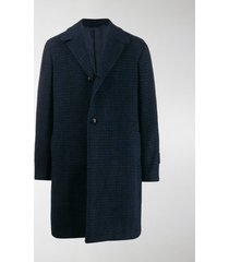mp massimo piombo geometric check single-breasted coat