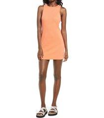 women's bp. sleeveless rib dress, size x-large - coral