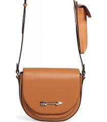 mackage sion leather crossbody bag - beige
