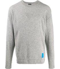 diesel finely textured knit sweatshirt - grey