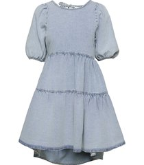babydoll denim dress kort klänning blå gina tricot