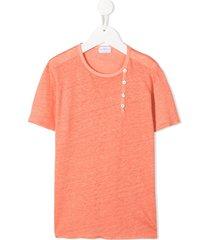 violeta e federico linen short sleeve t-shirt - orange