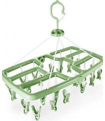 mini varal com 24 prendedores jacki design lifestyle verde
