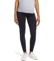women's isabella oliver maternity leggings, size 3 - black