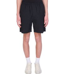 mauro grifoni shorts in black wool