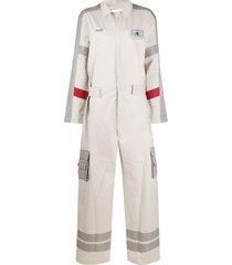 ader error oversized colour block jumpsuit - neutrals