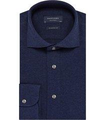 hemd profuomo donkerblauw knitted