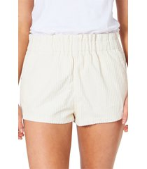 women's rip curl golden days paperbag waist corduroy shorts