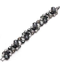 givenchy hematite-tone jet stone flex bracelet