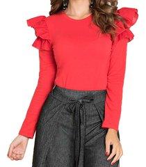 blusa marta rojo para mujer croydon