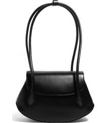 house of want we are timeless small vegan leather shoulder bag - black