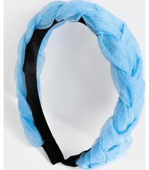 payton braided chiffon headband - light blue