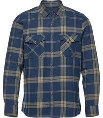 lm check flannel shirt skjorta casual grön o'neill