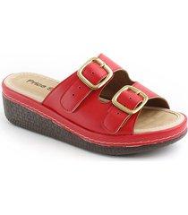 sandalia casual tipo confort para dama 6922287rojo