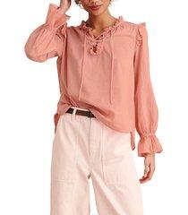 women's alex mill ruffle trim tunic blouse