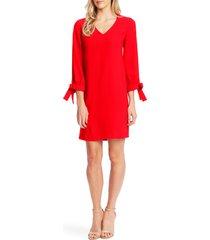 women's cece tie sleeve a-line dress, size 8 - red