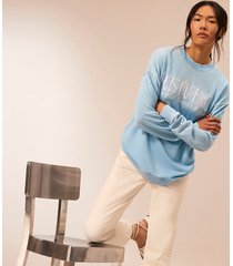 river island womens blue ri studio long sleeve sweatshirt