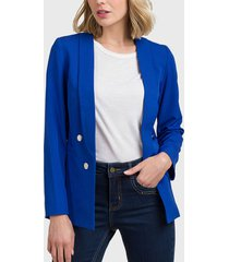 blazer ash liso azul - calce regular