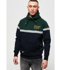 superdry men's applique colorblocked hoodie