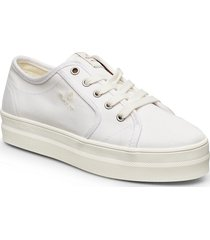 leisha low lace shoes låga sneakers vit gant