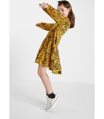 trapeze dress leopard girl - yellow - 13/14