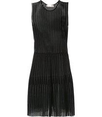 dion lee godet pleat mini dress - black