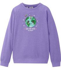 sweatshirt för flickor, ekologisk bomull