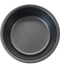 2 mini formas redondas em aço carbono 9,5cm hudson preta