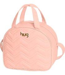 bolsa maternidade hug baby média linha chevron rosa - tricae