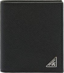 prada mini classic saffiano triagle vertical wallet