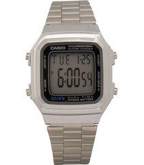 reloj casio a_178wa_1a_ plateado acero inoxidable