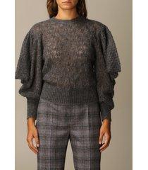 alberta ferretti sweater wide puff sleeve mohair