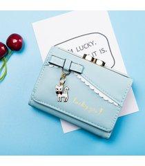 billetera mujeres- monedero de mujer monedero de moda-azul