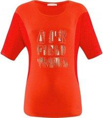 airfield - sh-217 shirt 1/2 rood-oranje gaas