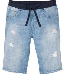 bermuda in jeans regular fit (blu) - rainbow